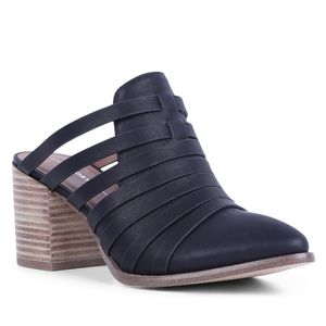 Report Tommy Black Heeled Mules